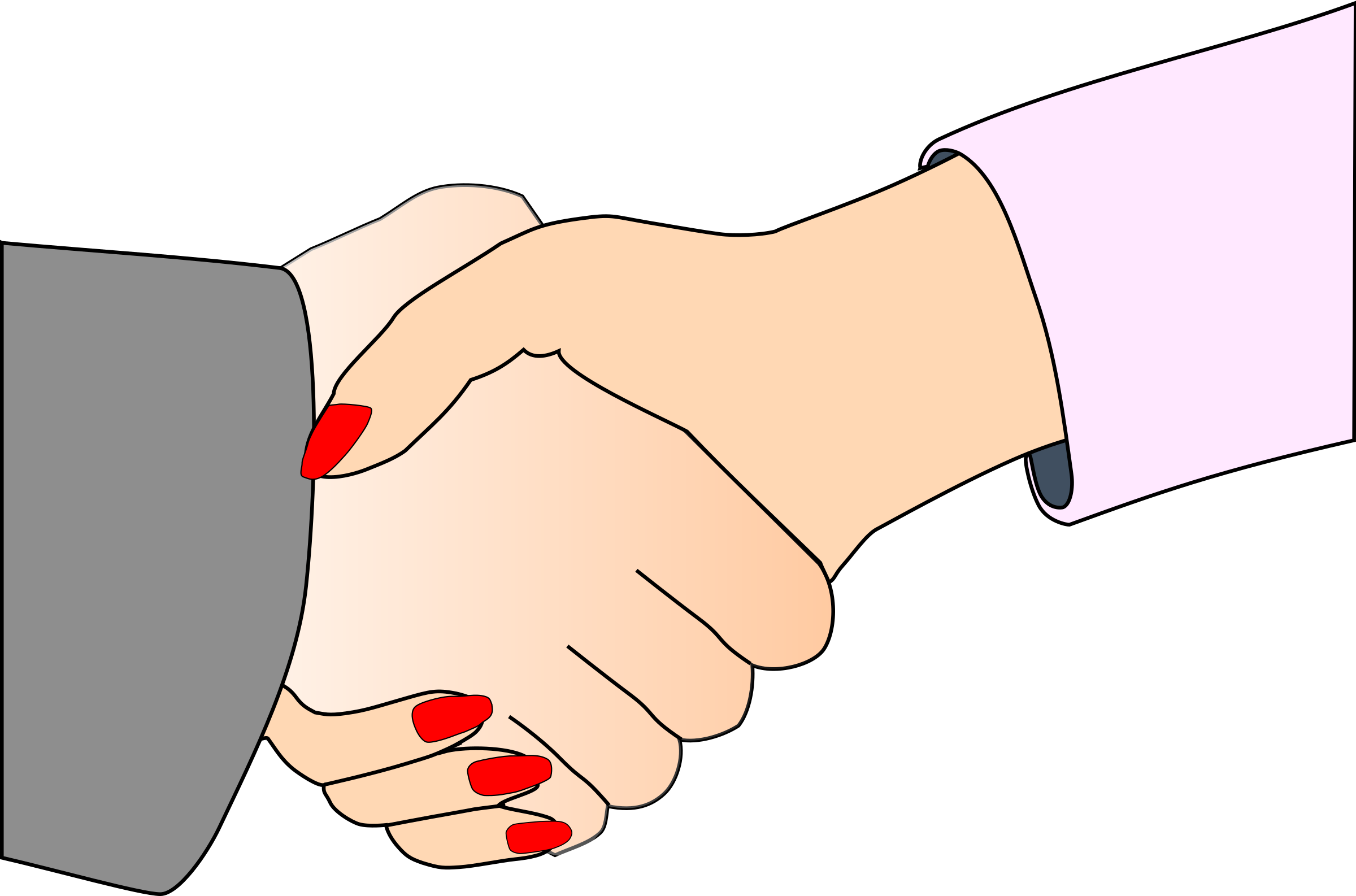 With black outline white. Handshake clipart support
