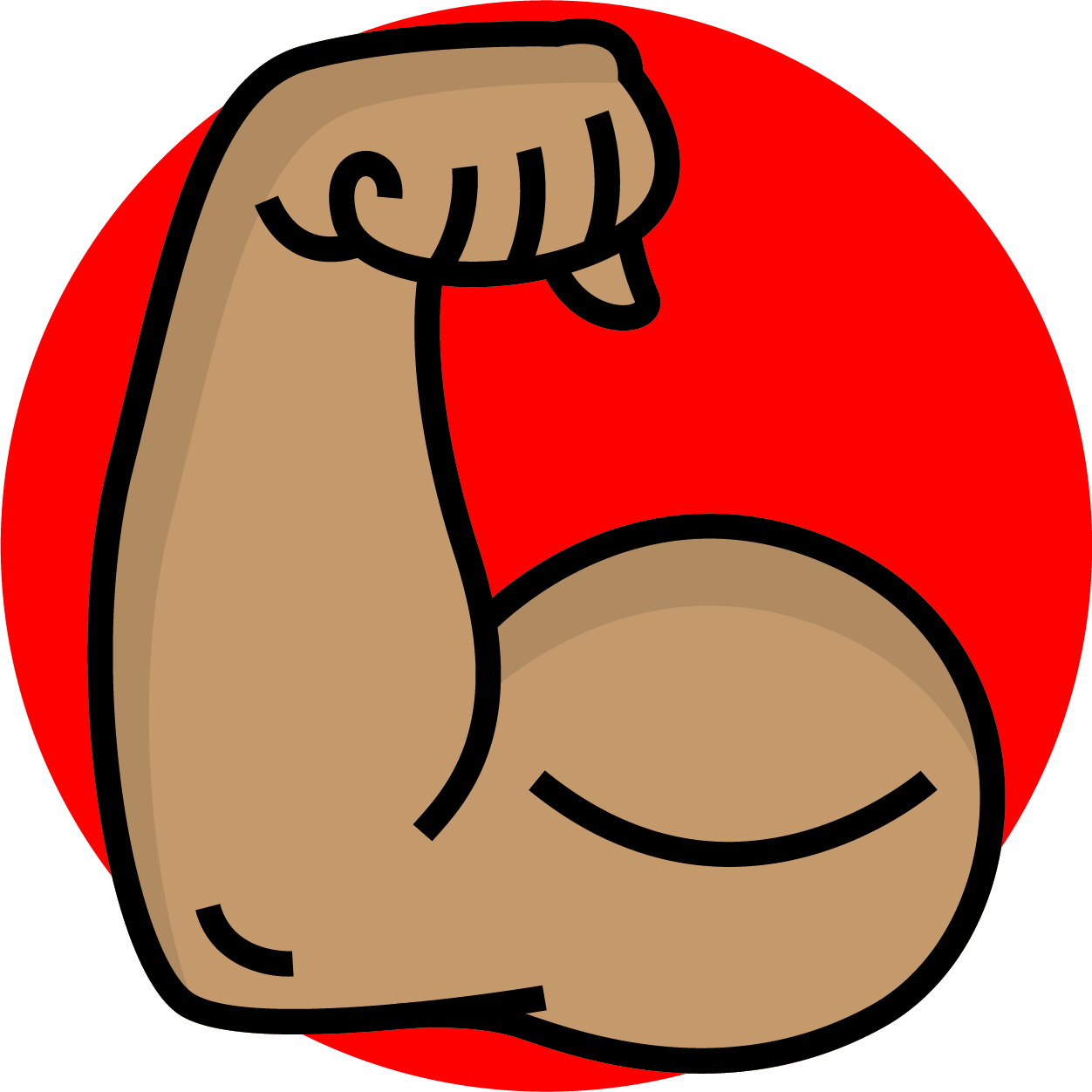 Arm muscle clip art. Elbow clipart strong hand