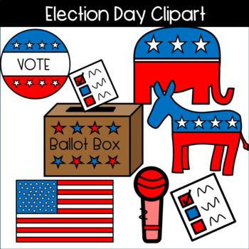 Election clipart ballot. Day voting sticker donkey