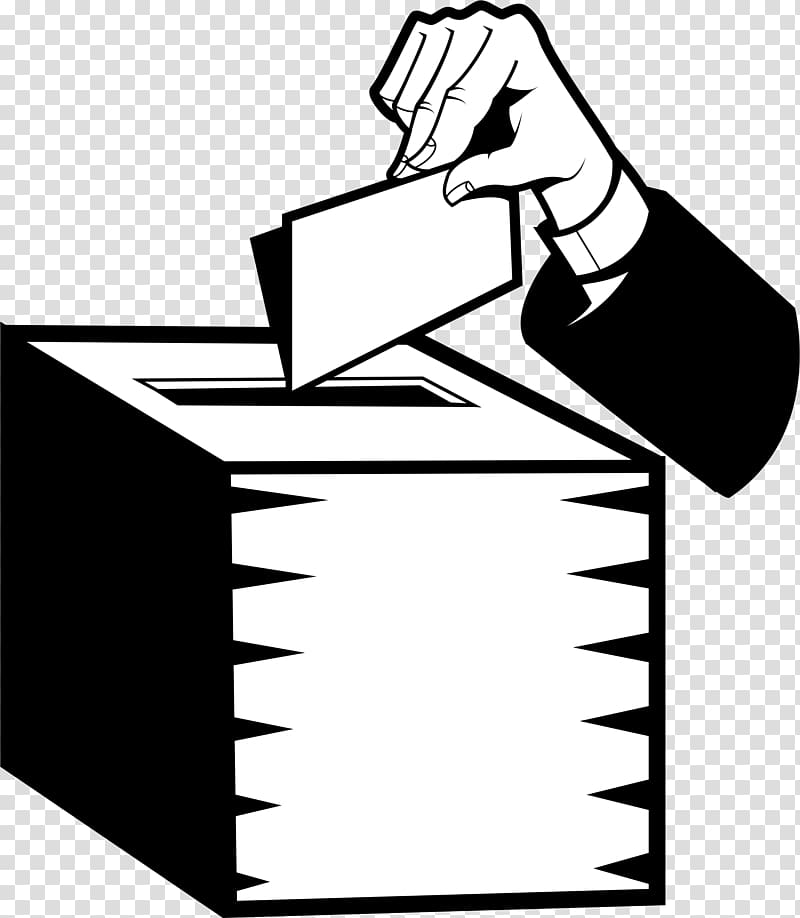 Voting clipart in line. Ballot box election vote