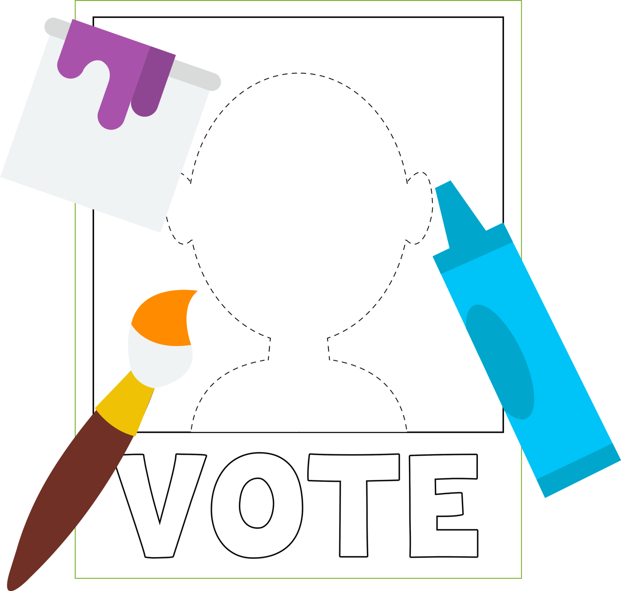 Voting clipart campaign poster. You choose pbs kids