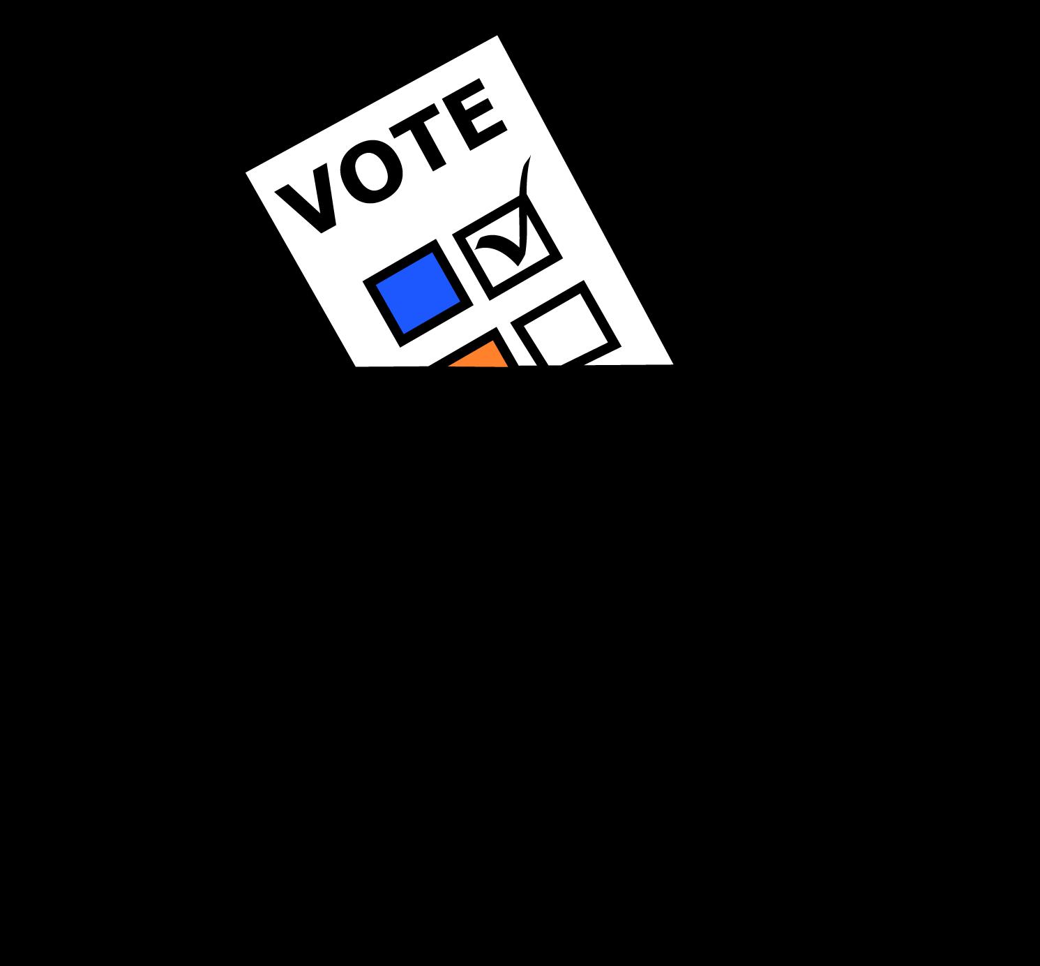 Voting clipart reform. If eight polls run