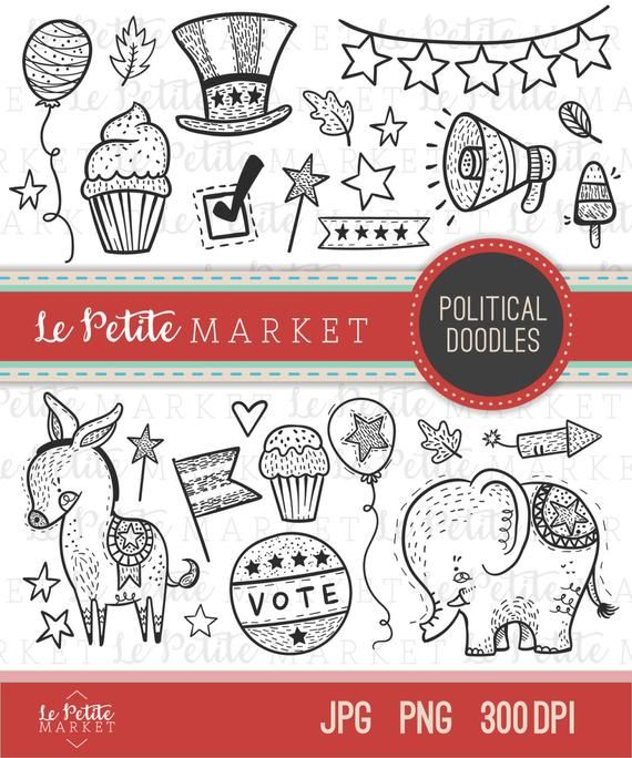 Election clipart cute, Election cute Transparent FREE for ...