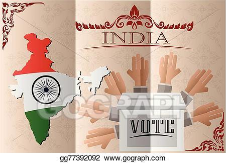 Vector stock india ballot. Election clipart election indian