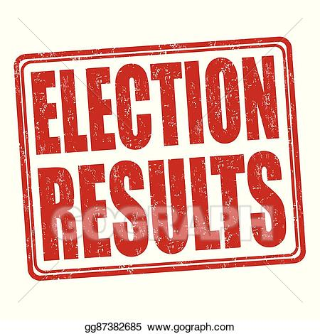 Election clipart election result. Vector art results stamp