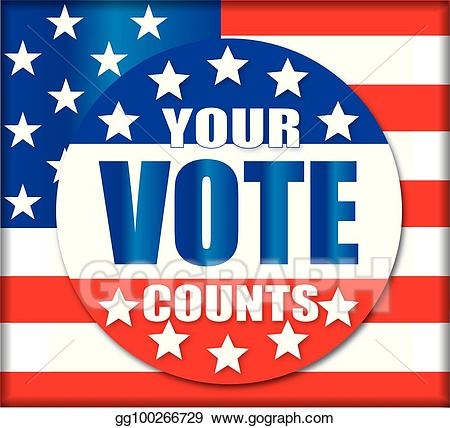 Vector stock your vote. Voting clipart general election