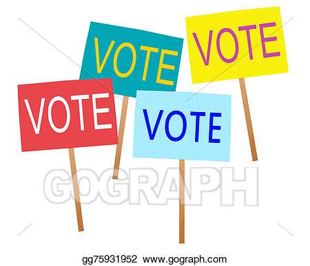 Voting clipart general election. Stock illustration uk vote