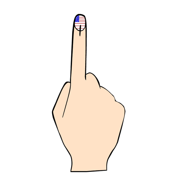 collection of vote. Fingers clipart czar