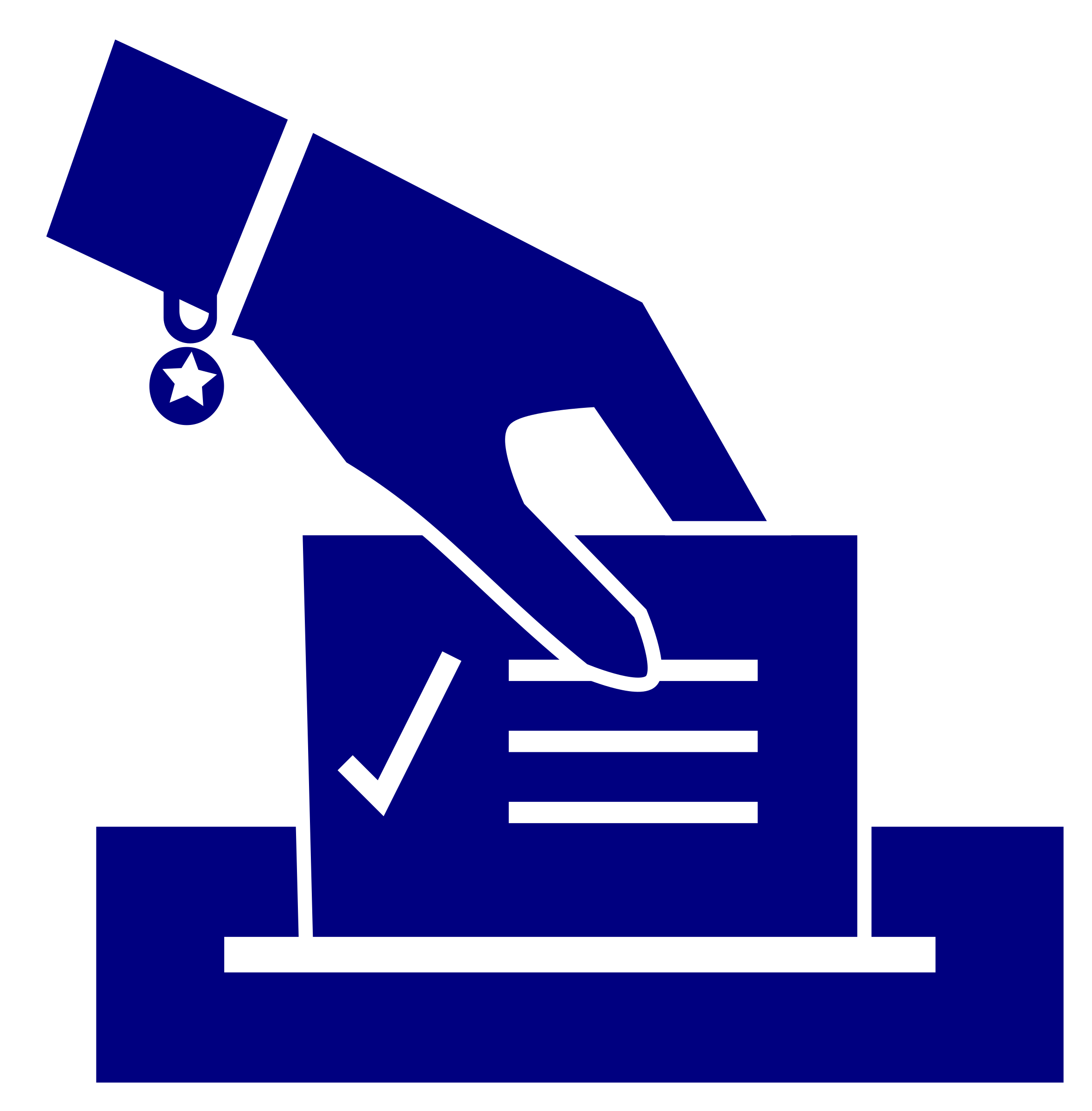Ballot woman s big. Election clipart hand