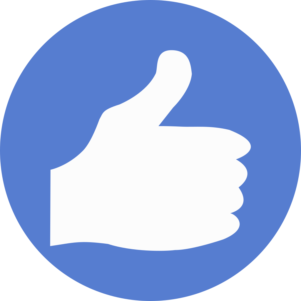 Election circle blue iconset. Thumbs up icon png
