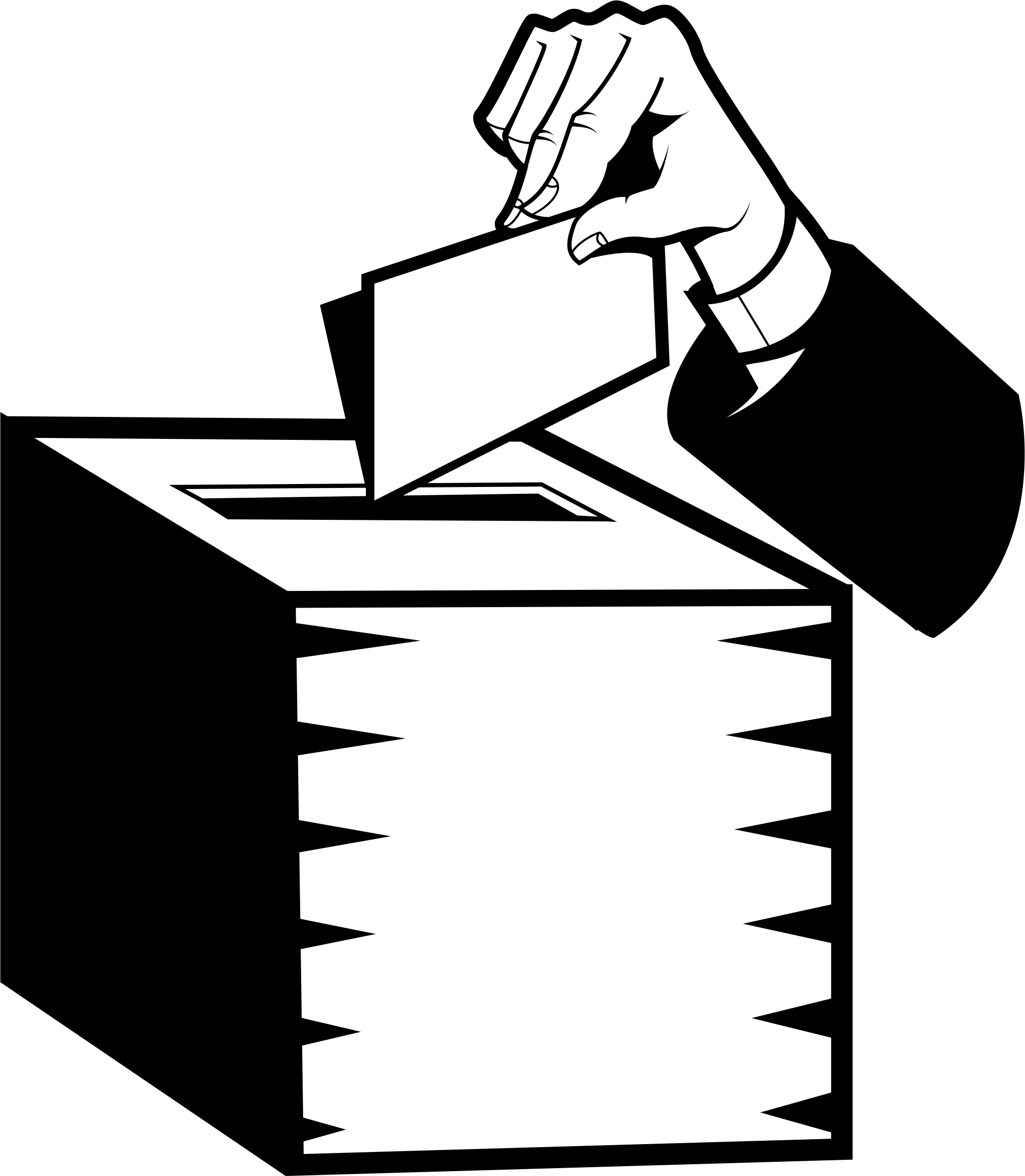 Politics ballot box