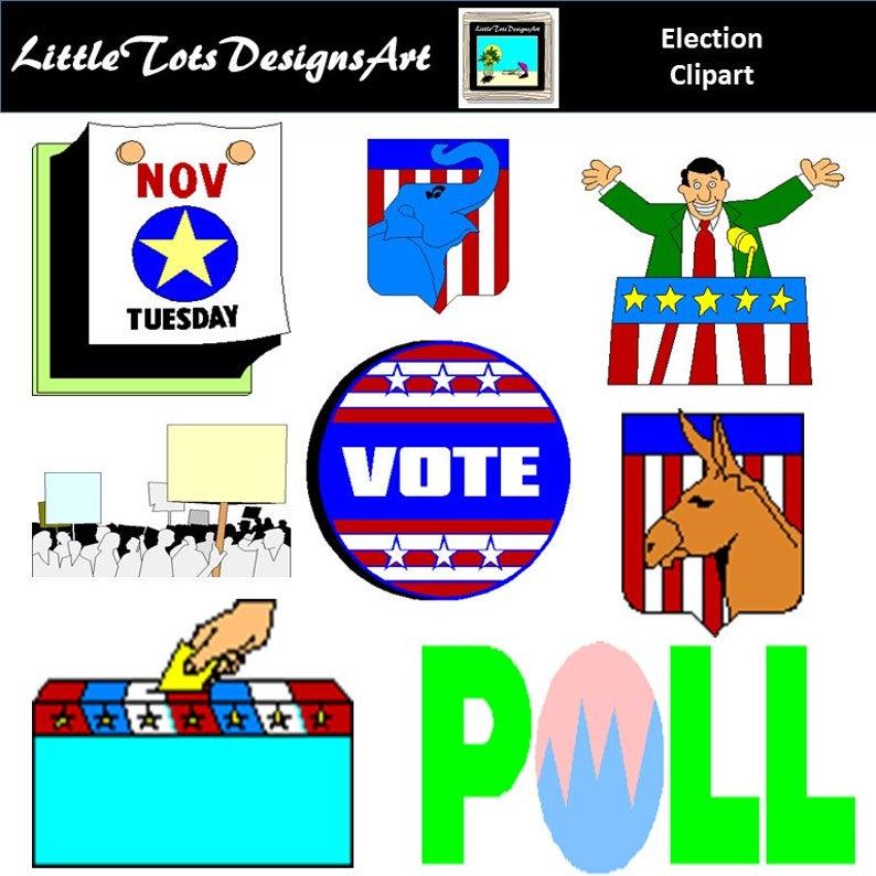 Election clipart politics. Usa clip art vote