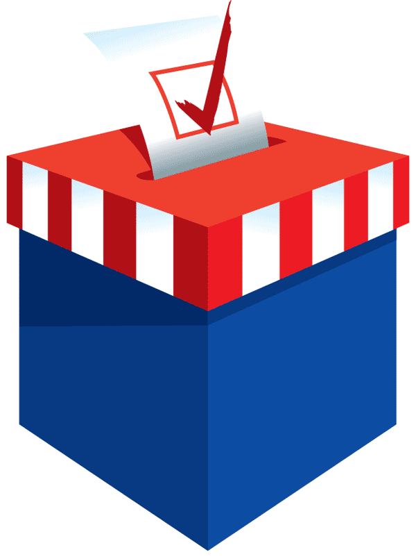 election clipart polling place