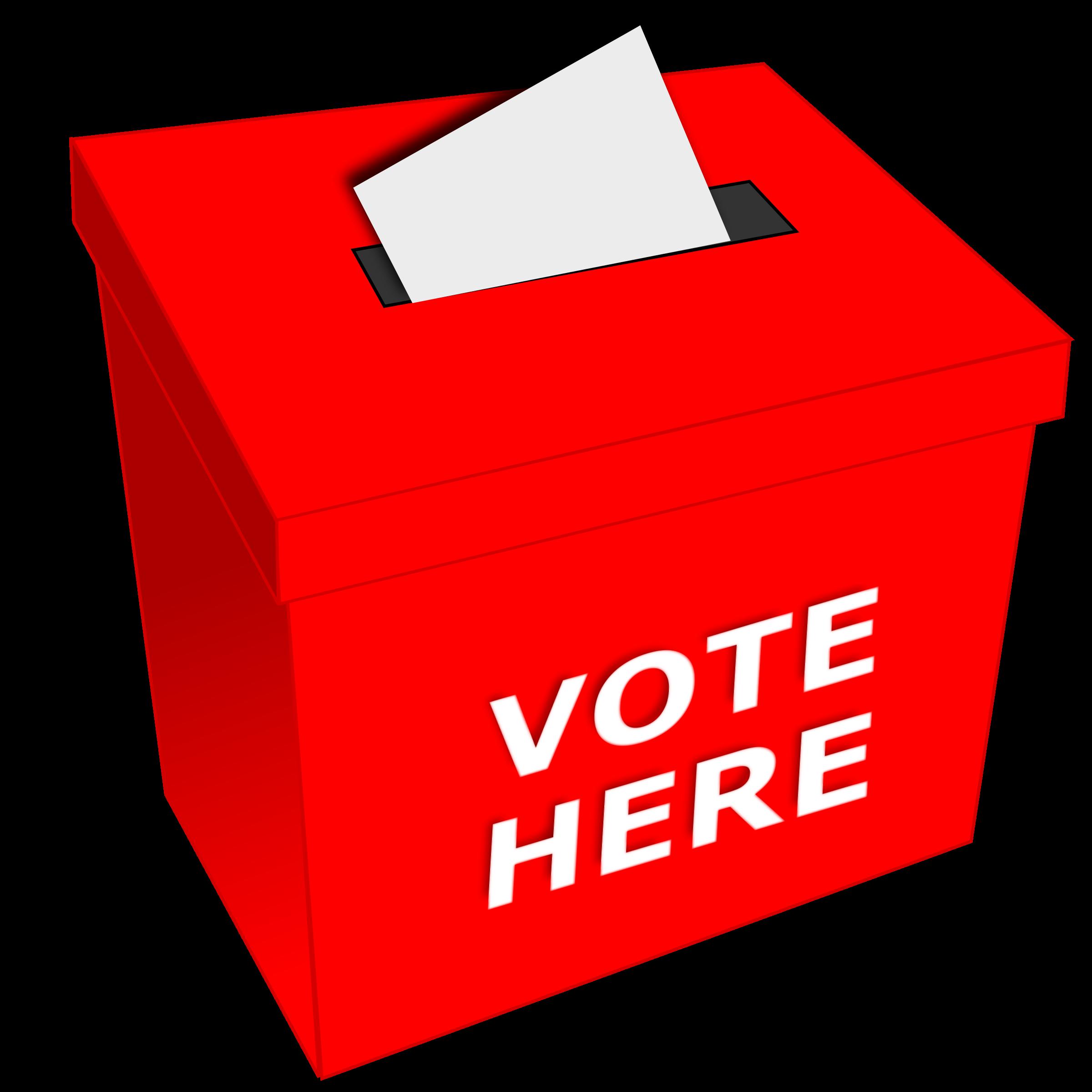 Vote big image png. Voting clipart raffle box