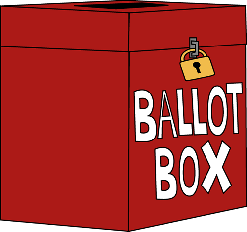 Voting clipart voting box. Free election ballot cliparts