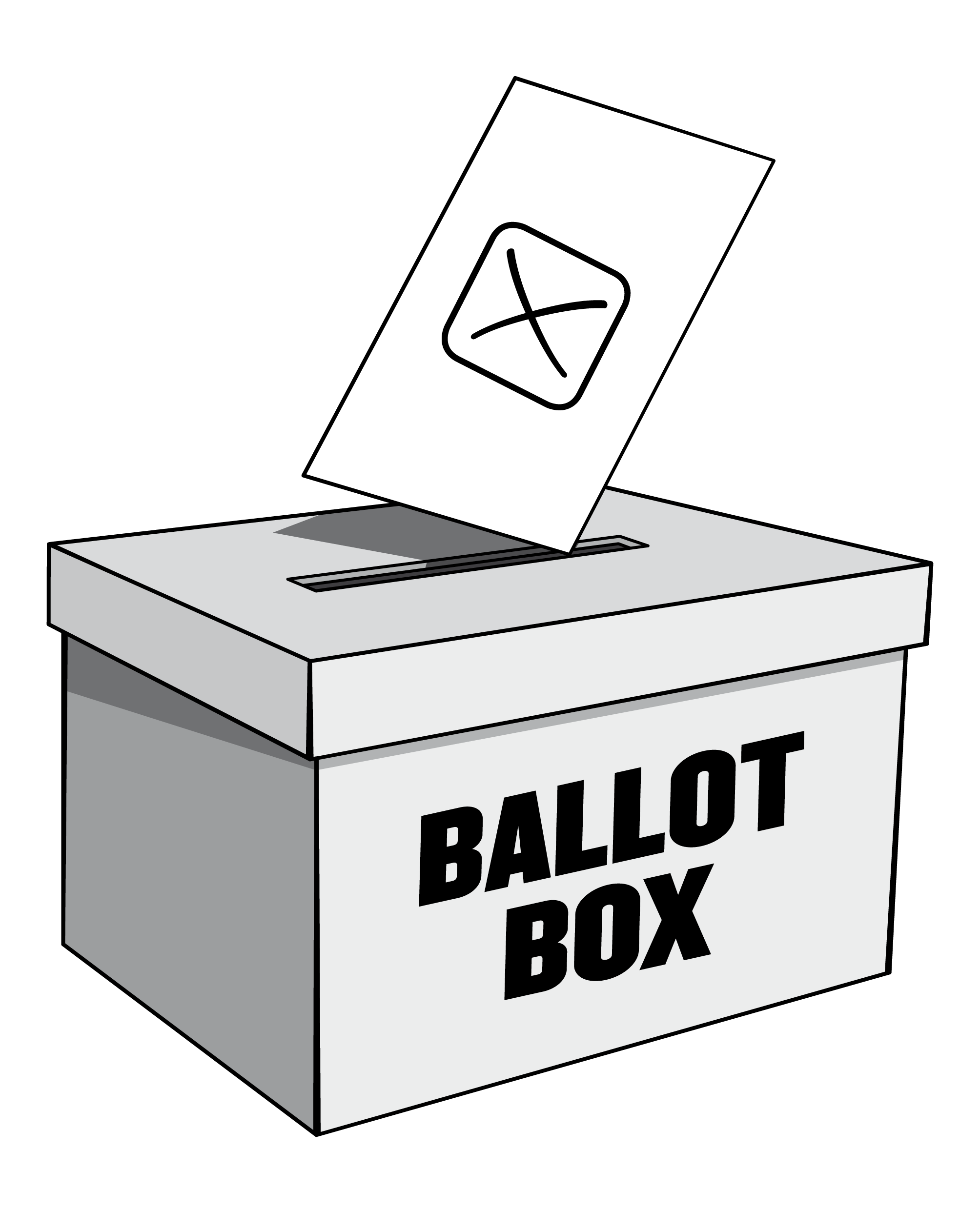 Polling day lancashire county. Voting clipart raffle box