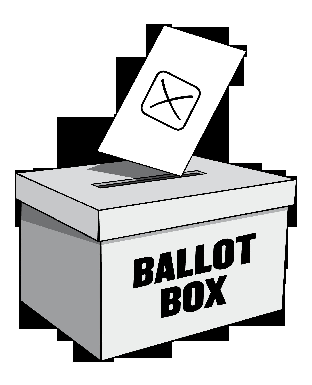 Polling day lancashire county. Raffle clipart raffle box