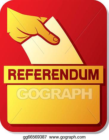 Voting clipart referendum. Vector art in the