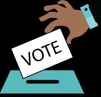 Gender inclusive pronoun on. Voting clipart referendum