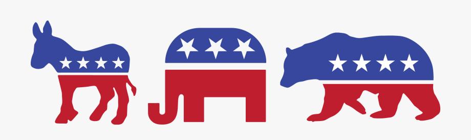Political and . Politics clipart republican democrat