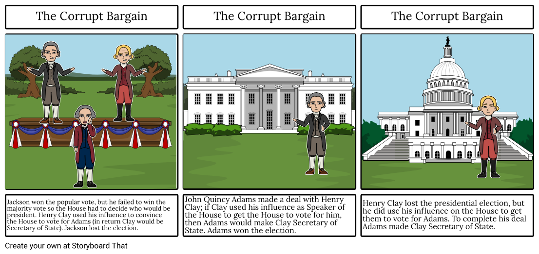 The corrupt bargain storyboard. Win clipart house windows