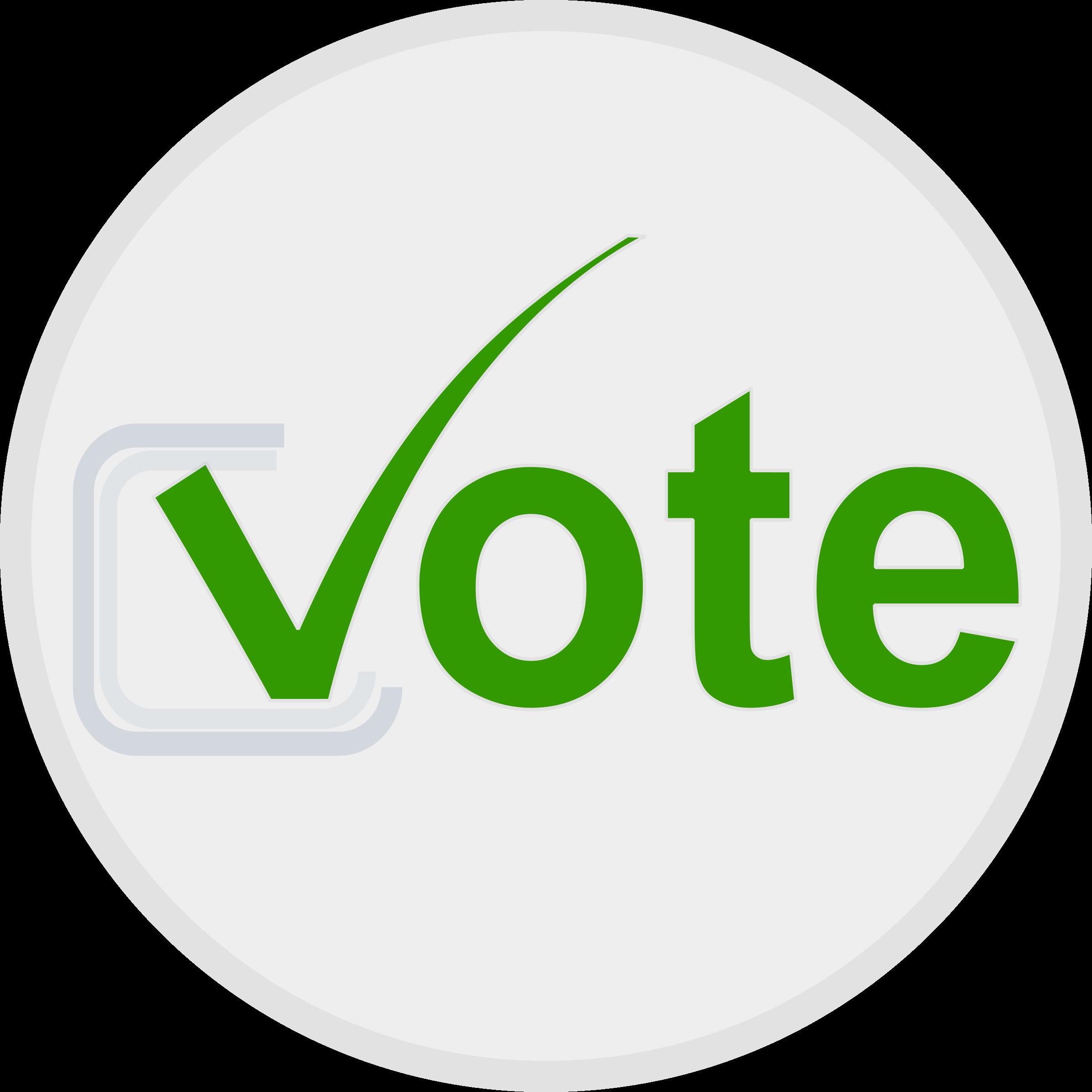 Vote icon big image. Voting clipart cute