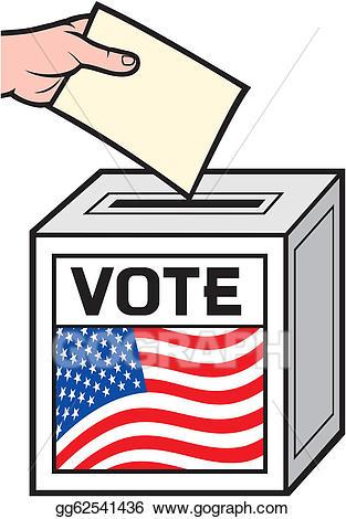 Voting clipart voting box. Vector art illustration of