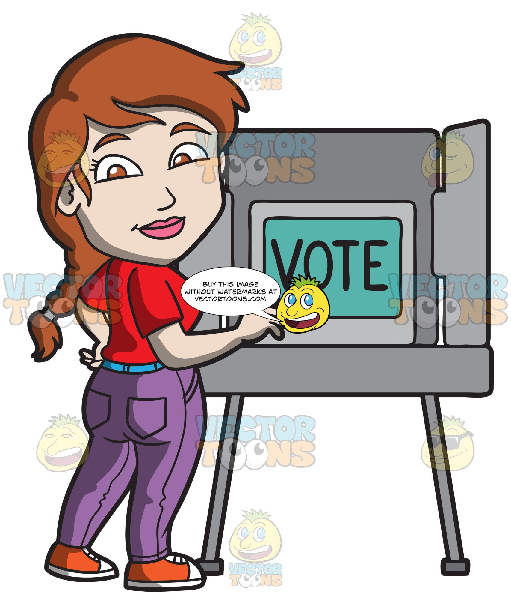 A gets ready to. Election clipart woman