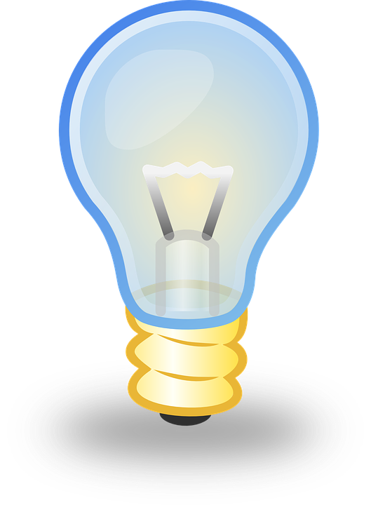 Electricity bulb pencil and. Electric clipart animated