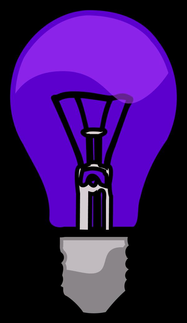 Light bulb free on. Lightbulb clipart purple
