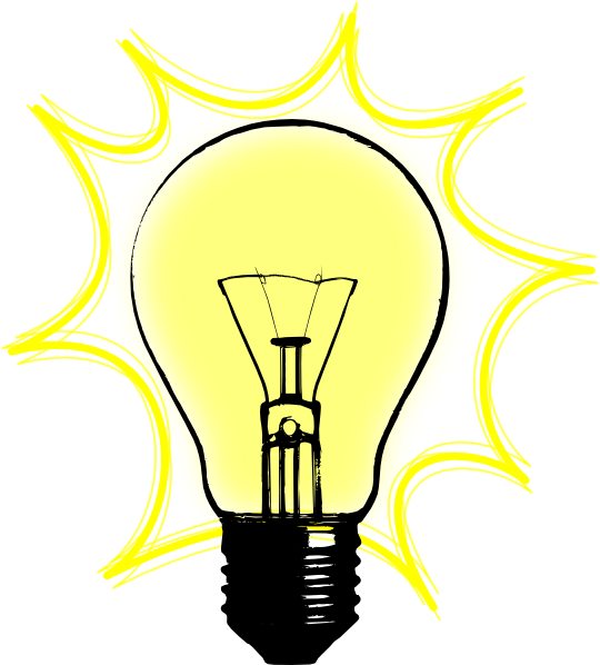 Incandescent light electric clip. Lamp clipart electrical bulb