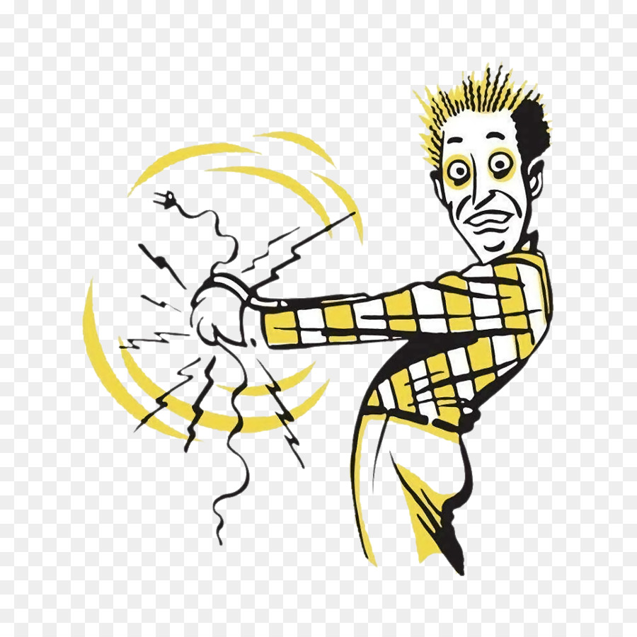 Background electricity . Electric clipart cartoon