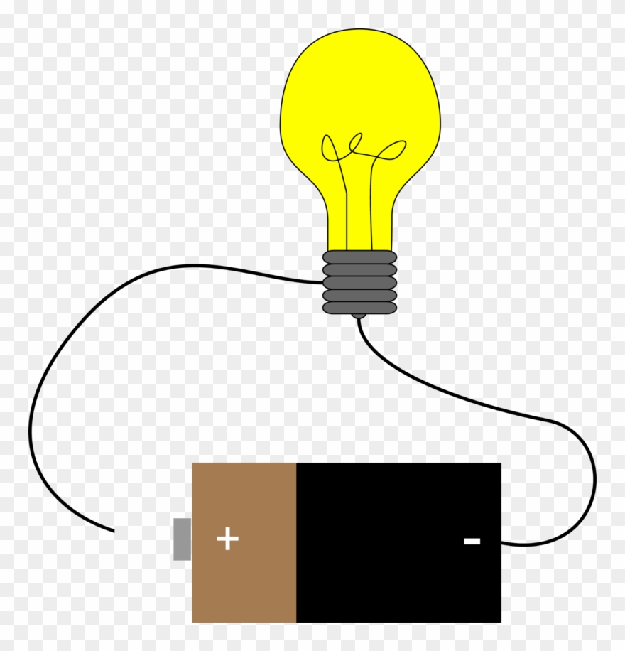 Bulb electric circuit light. Electrical clipart current electricity