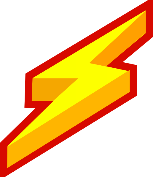 Electric clipart electric charge. Lightning bolt clip art