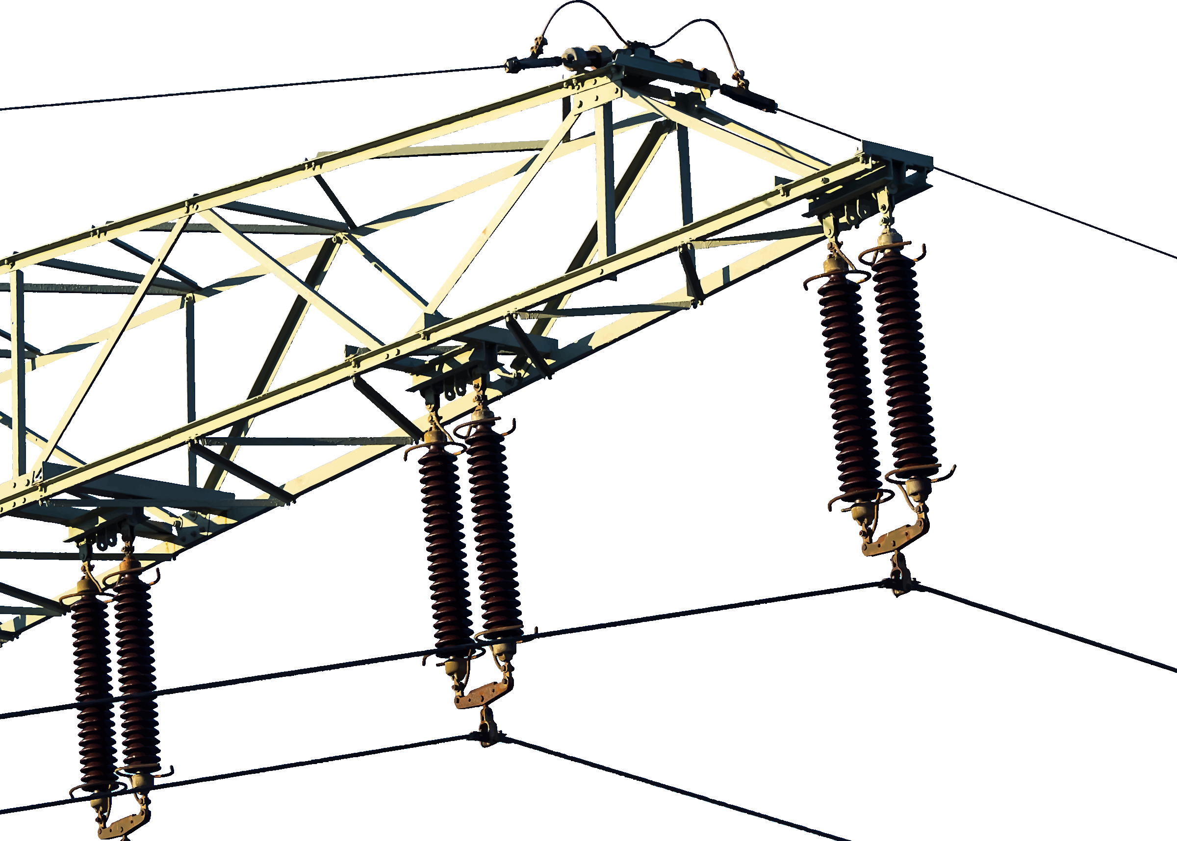 Power lines big image. Electrical clipart electric conductor