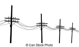Station . Electrical clipart electric post
