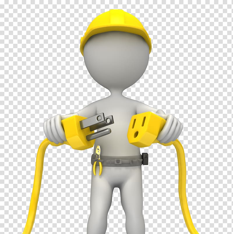 Electrician illustration electrical safety. Electricity clipart engineer