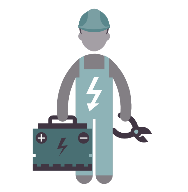 Electric clipart electrical engineer. Cartoon electricity engineering