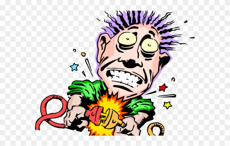 Electric clipart electrical injury. Shocking bill