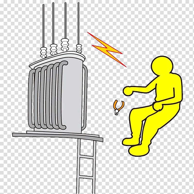 Electricity high voltage accident. Electric clipart electrical injury