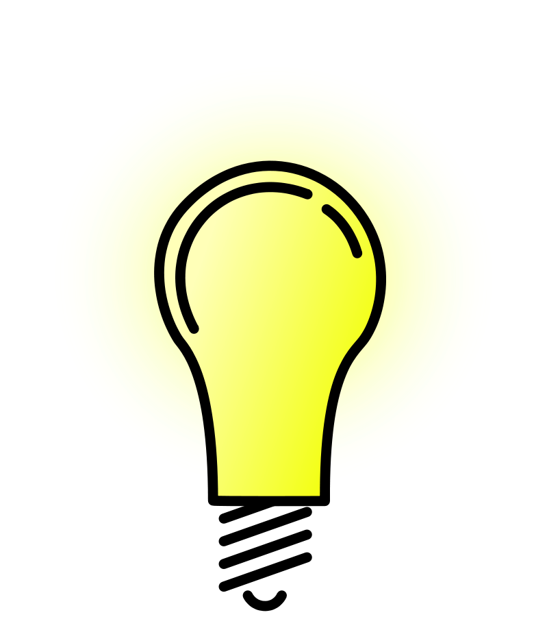 Bright electric bulb lamps. Energy clipart ion