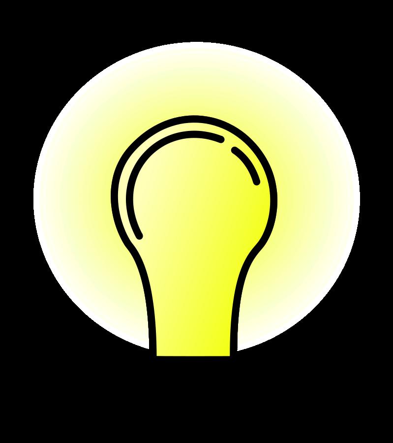 Future clipart brighter future. Bright electric bulb lamps
