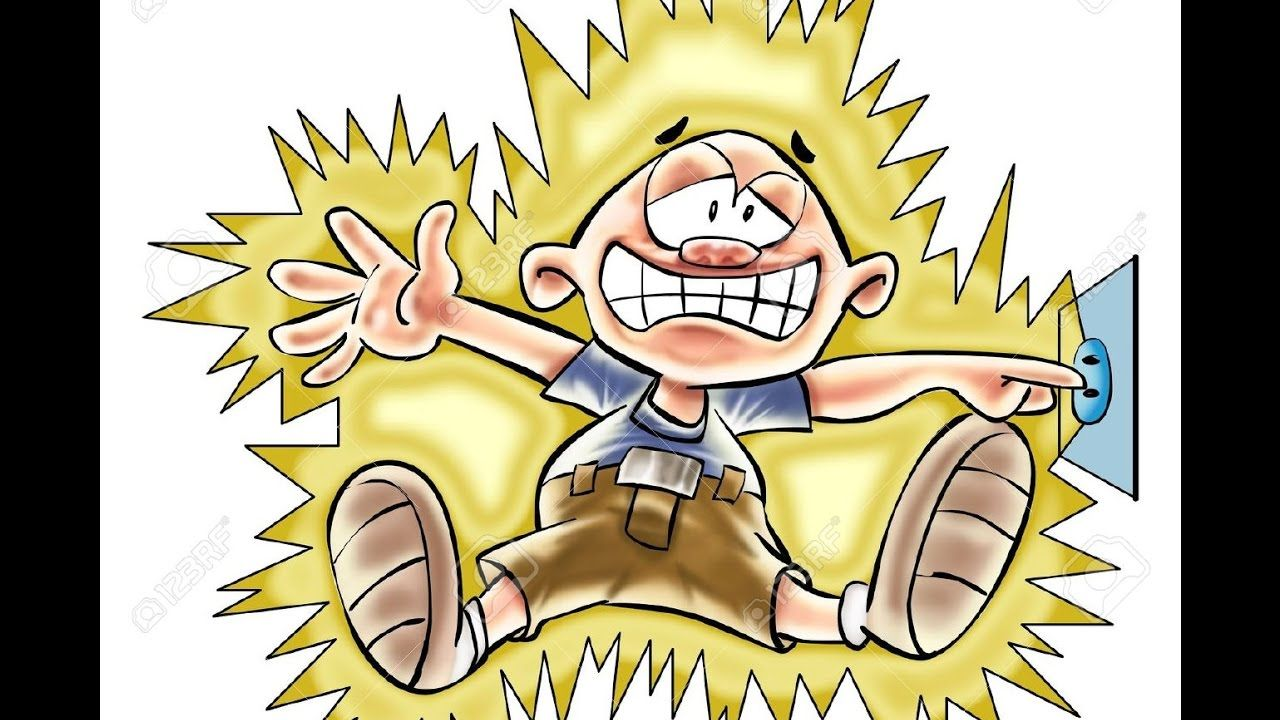 Ac volts shock experience. Electrician clipart kid
