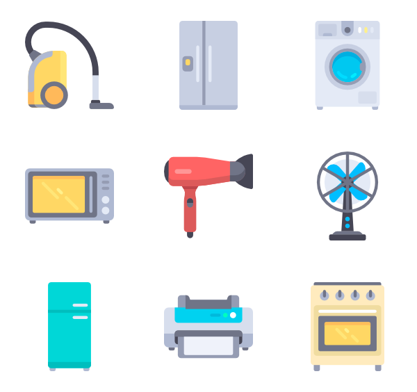 Electronics clipart home electronics. Electricity icons free vector