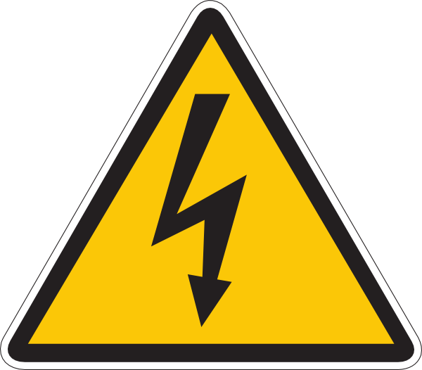 Electric warning clip art. Electricity clipart svg