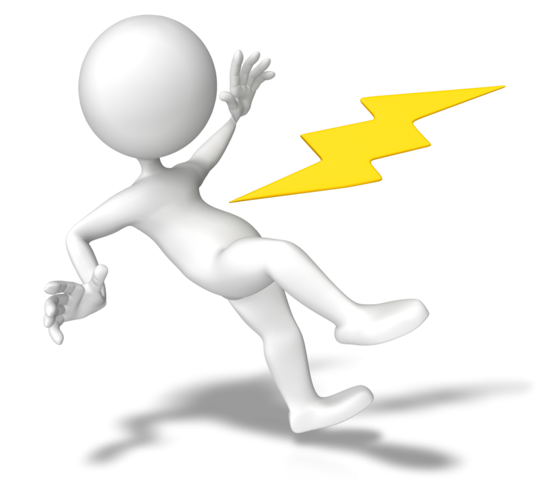 Electricity electrical safety ac. Man clipart presentation
