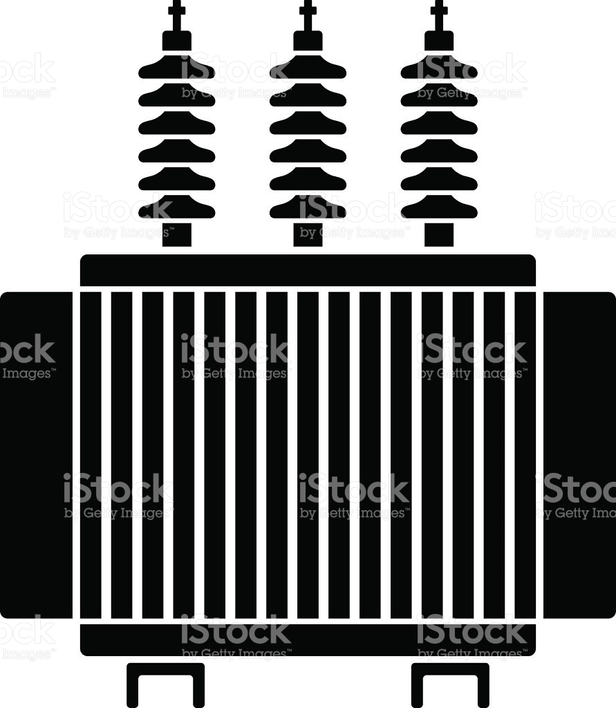 Electric clipart electrical transformer. Station