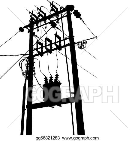 Vector substation . Electric clipart electrical transformer