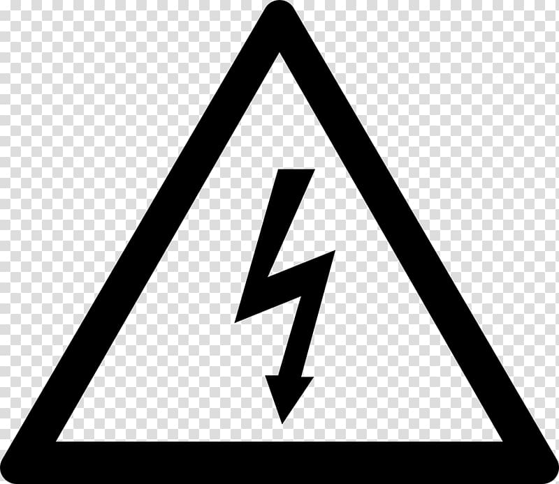 High voltage icon illustration. Electric clipart electricity danger