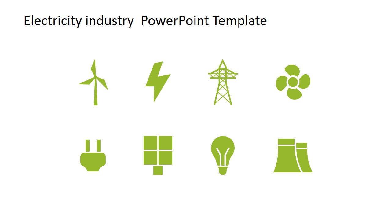 Electric clipart electricity generation. Industry powerpoint template